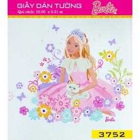 Giấy dán tường Barbie 3752