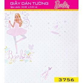 Giấy dán tường Barbie 3756