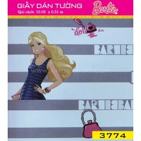 Giấy dán tường Barbie 3774