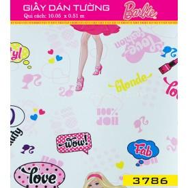 Giấy dán tường Barbie 3786