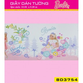 Giấy dán tường Barbie BD3754