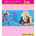 Giấy dán tường Barbie BD3760-2