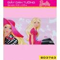 Giấy dán tường Barbie BD3763