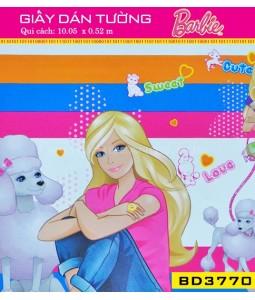 Giấy dán tường Barbie BD3770