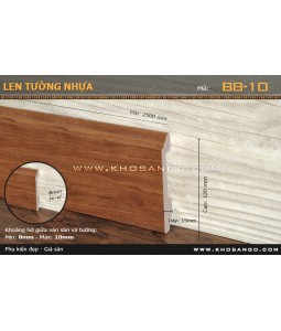 Plastic skirting B8-10-120
