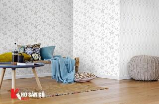 Sự kết hợp hoàn hảo giấy dán tường và sàn gỗ
