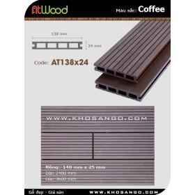Sàn gỗ ngoài trời ATwood AT138x24-Coffee