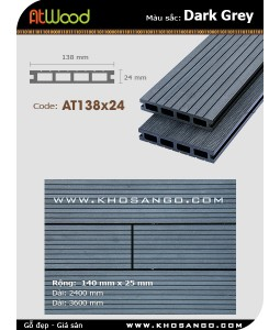 ATWood Decking AT138x24-Darkgrey