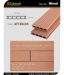 ATWood Decking AT138x24-Wood