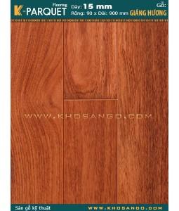 Padouk parquet flooring 15x90x900