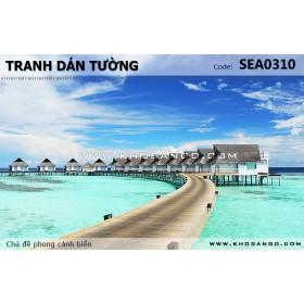 Tranh dán tường phong cảnh biển SEA310