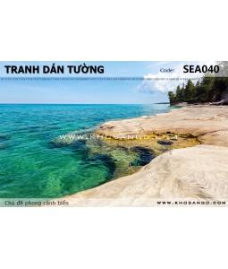 Tranh dán tường phong cảnh biển SEA040