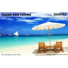 Tranh dán tường phong cảnh biển SEA483