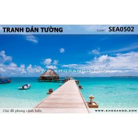 Tranh dán tường phong cảnh biển SEA502