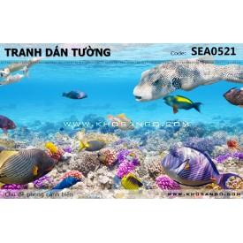 Tranh dán tường phong cảnh biển SEA521
