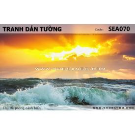 Tranh dán tường phong cảnh biển SEA070