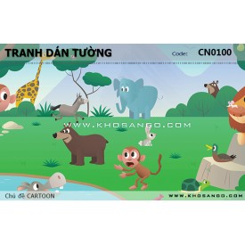 CARTOON wall paintings CN0100