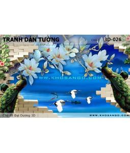 Tranh dán tường Đại Dương 3D 3D-026