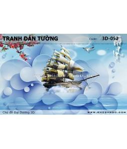 Tranh dán tường Đại Dương 3D 3D-052
