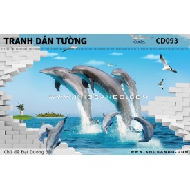 Ocean 3D wall paintings CD093