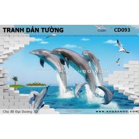Tranh dán tường Đại Dương 3D CD093
