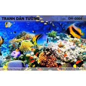 Tranh dán tường Đại Dương 3D DH-0004