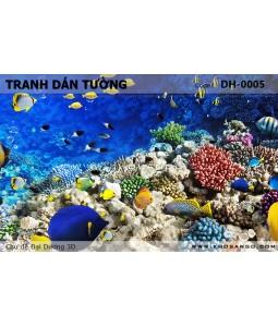 Tranh dán tường Đại Dương 3D DH-0005