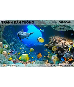 Ocean 3D wall paintings DH-0006