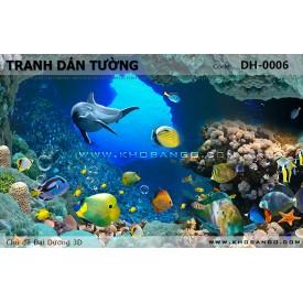 Tranh dán tường Đại Dương 3D DH-0006