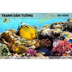 Tranh dán tường Đại Dương 3D DH-0008