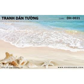 Tranh dán tường Đại Dương 3D DH-0031
