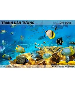 Ocean 3D wall paintings DH-0046