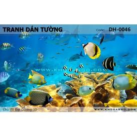 Tranh dán tường Đại Dương 3D DH-0046
