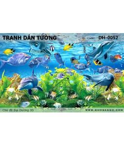 Ocean 3D wall paintings DH-0052