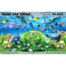 Tranh dán tường Đại Dương 3D DH-0052