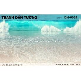 Tranh dán tường Đại Dương 3D DH-0054