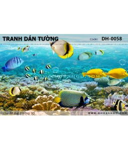 Ocean 3D wall paintings DH-0058