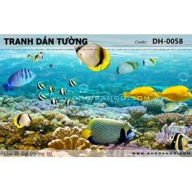 Tranh dán tường Đại Dương 3D DH-0058