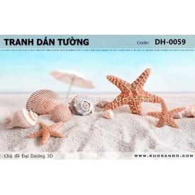 Tranh dán tường Đại Dương 3D DH-0059