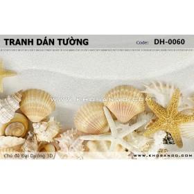 Tranh dán tường Đại Dương 3D DH-0060