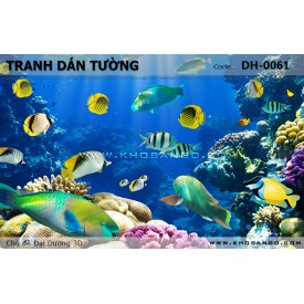 Tranh dán tường Đại Dương 3D DH-0061