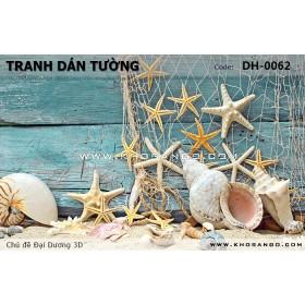 Tranh dán tường Đại Dương 3D DH-0062