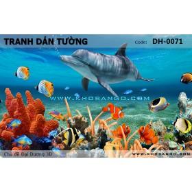 Tranh dán tường Đại Dương 3D DH-0071