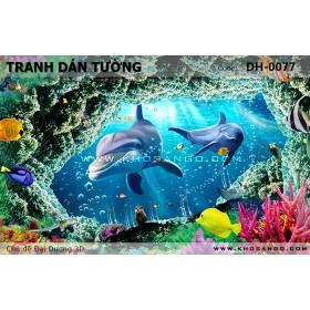 Tranh dán tường Đại Dương 3D DH-0077