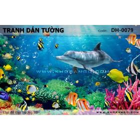 Tranh dán tường Đại Dương 3D DH-0079