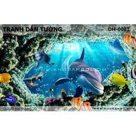 Tranh dán tường Đại Dương 3D DH-0081