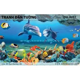 Tranh dán tường Đại Dương 3D DH-0097