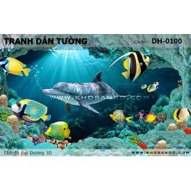 Tranh dán tường Đại Dương 3D DH-0100