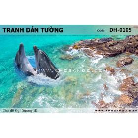 Tranh dán tường Đại Dương 3D DH-0105