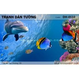 Tranh dán tường Đại Dương 3D DH-0110